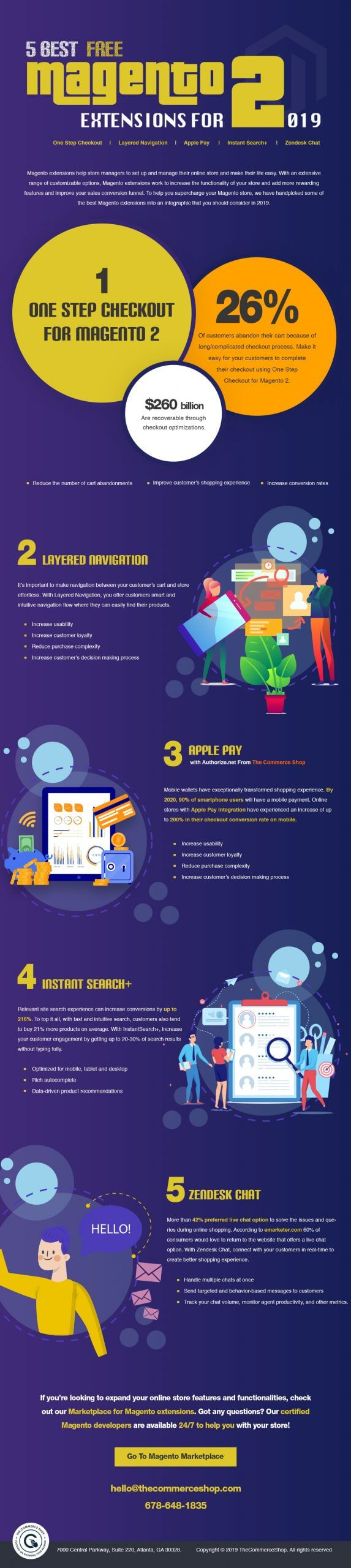 5 Best Free Magento 2 Extensions For 2019 [Infographic]