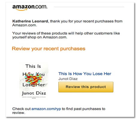 Amazon Automates Review Emails