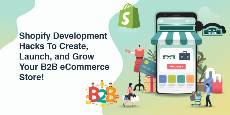 Shopify Development Hacks To Create, Launch, and Grow Your B2B eCommerce Store!