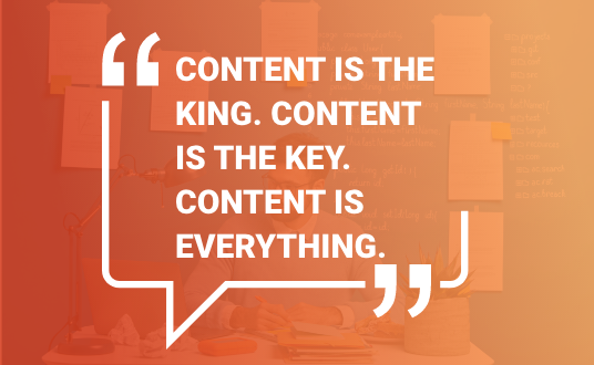 Content helps boost SEO outcomes